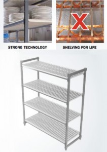 Shelves: Cambro's biodegradable eco-friendly racks
