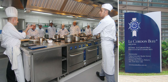 *Photo taken in one of Le Cordon Bleu, Sunway's many training kitchens.