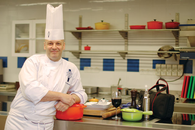 CHEF FRANCK BRUWIER very much at home at the demo kitchen of Sunway Le Cordon Bleu