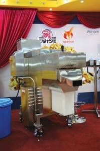 Popcorn making machinery