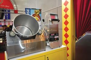 Popcorn making machinery