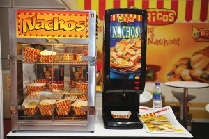 A complete solution - nacho warmer and cheese dispenser