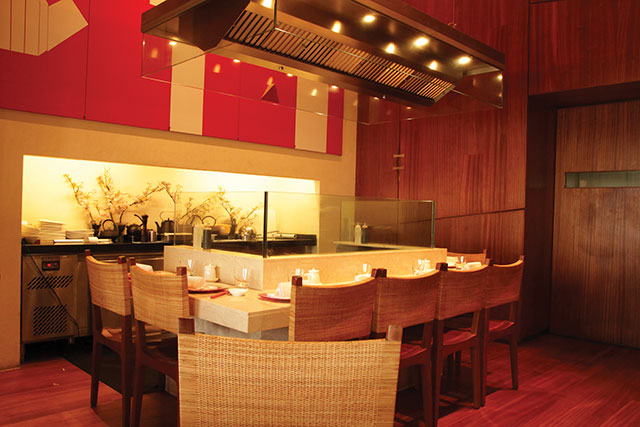 Comfortable dining space at Wasabi by Morimoto, India