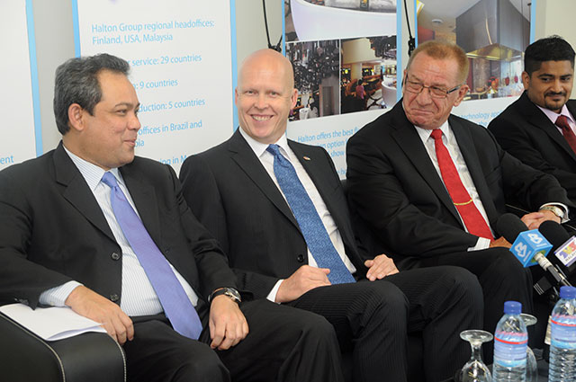 Chairman, Mika Halttunen (second from left) with fellow associates during Halton Malaysia's facility inauguration