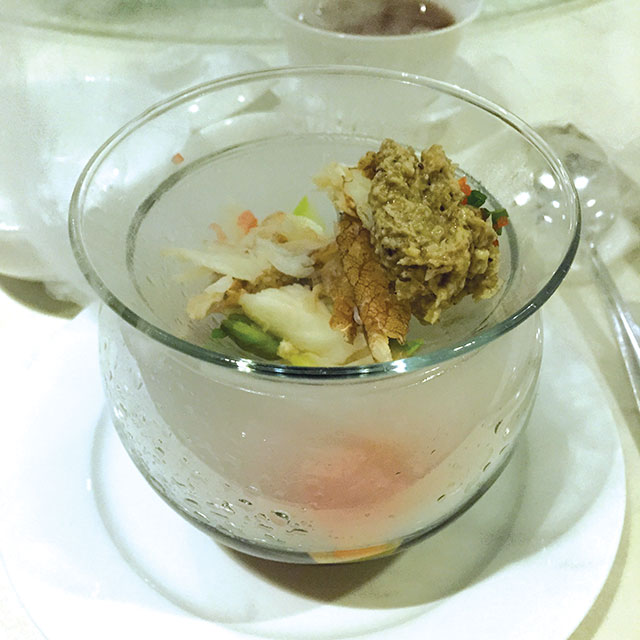 Chilled crab appetiser