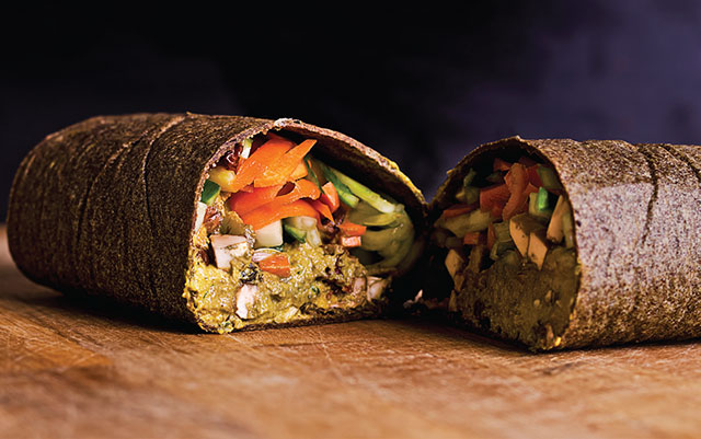 Example of a raw food wrap