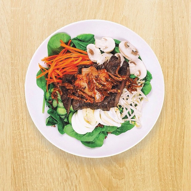 Korean inspired Bibimbap salad